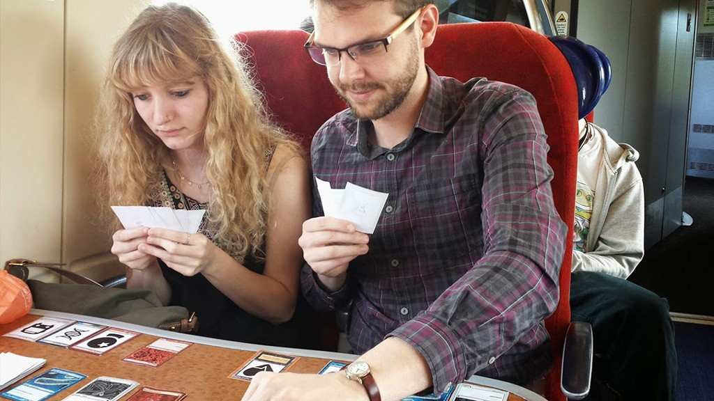 Play test on the train